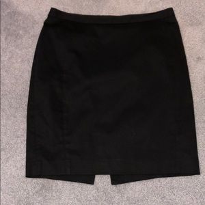 Express cotton lined pencil skirt with back slit